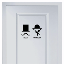 Hat's Marks For Men And Women's Toilet Sticker