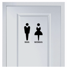 Simple marks for men and women's toilet sticker