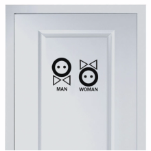 Cute Button Marks For Men And Women's Toilet Sticker