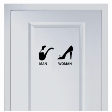 Pipe and high heelsmarks for toilet sticker
