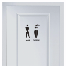 Creative Marks For Men And Women's Toilet Sticker