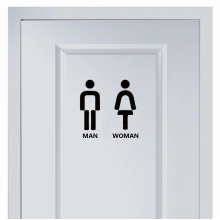 Simple marks for men and women's toilet wall sticker
