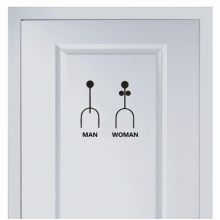 Funny Marks For Men And Women's Toilet Sticker