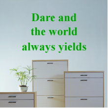 Be Dare And The World Always Yields Quote Removable Wall Sticker Art Decals Mural DIY Wallpaper for Room Decal