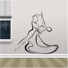 Dancing Couple Silhouette Decal Wall Sticker