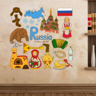 Russia Symbol Illustration Decal Wall Sticker