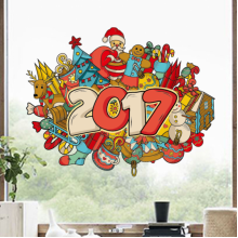 Merry Christmas & Happy New Year Illustration Sticker
