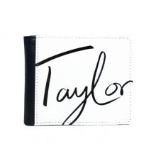 Beautiful Autograph Pattern Decal Wallet