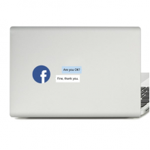 Greetings Phrase are You Ok Laptop Sticker