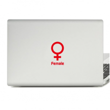 Simple Mark of Female Laptop Sticker