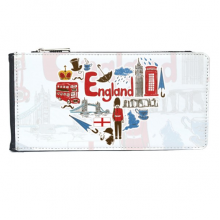 UK England Faux Leather Wallet