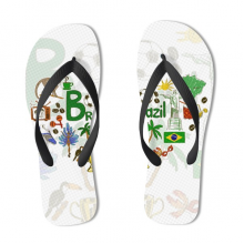 Brazil Illustration Flip Flops