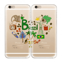 Brazil Soft Transparent iPhone 6/6s Plus Couple Cases
