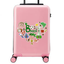 Brazil Illustration Suitcase Sticker