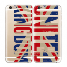 UK Soft Transparent iPhone 6/6s Plus Couple Cases