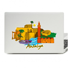 Antalya Illustration Laptop Skin Sticker