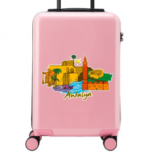 Antalya Illustration Suitcase Sticker