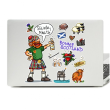 UK Scotland Drunken Man Laptop Skin Sticker