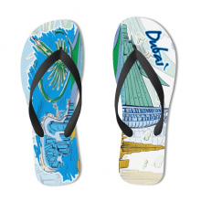 Dubai Illustration Flip Flops