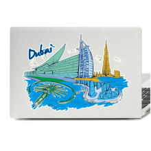 Dubai Illustration Laptop Skin Sticker