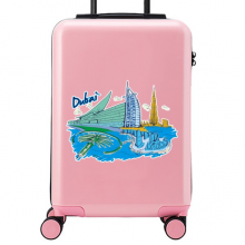 Dubai Illustration Suitcase Sticker