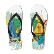 Bangkok Illustration Flip Flops