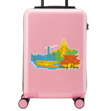 Hong Kong Illustration Suitcase Sticker