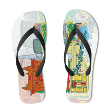 Amsterdam Illustration Flip Flops