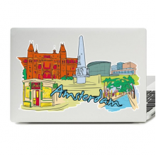 Amsterdam Illustration Laptop Skin Sticker