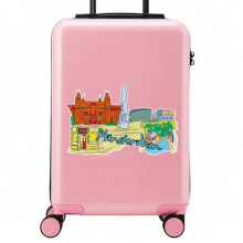 Amsterdam Illustration Suitcase Sticker