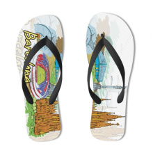 Barcelona Illustration Flip Flops