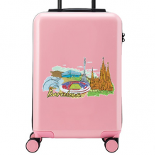 Barcelona Illustration Suitcase Sticker