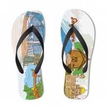 Singapore Illustration Flip Flops