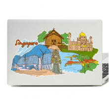 Singapore Illustration Laptop Skin Sticker