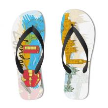 London Illustration Flip Flops