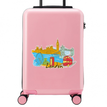 London Illustration Suitcase Sticker