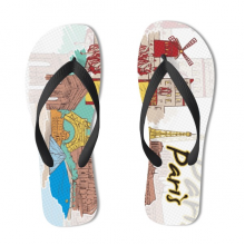 Paris Illustration Flip Flops