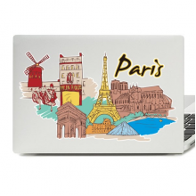 Paris Illustration Laptop Skin Sticker