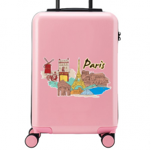 Paris Illustration Suitcase Sticker