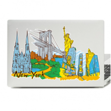 New York Illustration Laptop Skin Sticker