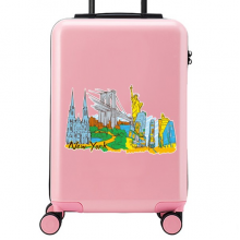 New York Illustration Suitcase Sticker