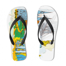 New York Illustration Flip Flops