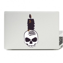 Halloween Skull and Candle Laptop Skin Sticker