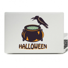 Halloween Witch's danger Cylinder Laptop Skin Sticker