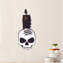 Halloween Skull and Candle Wall Sticker