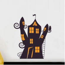 Halloween Castle Cartoon Removable Wall Sticker Art Decals Mural DIY Wallpaper for Room Decal
