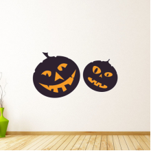 Halloween Pumpkins Wall Sticker