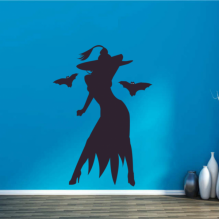 Halloween Hot Witch Wall Sticker