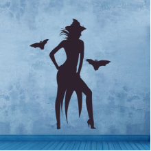 Halloween Sexy Witch Wall Sticker