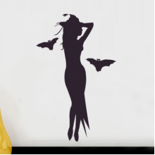 Halloween Alluring Witch Removable Wall Sticker Art Decals Mural DIY Wallpaper for Room Decal